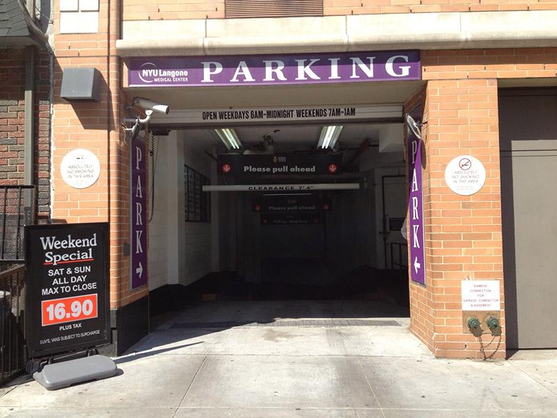 NYC Parking NYULMC H Garage Corp